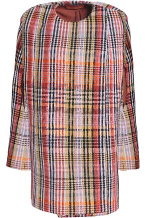 MISSONI Checked wool-blend cape