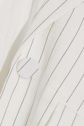 RACHEL ZOE Dominique pinstriped piqué blazer