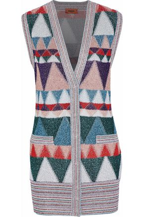 MISSONI Metallic jacquard-knit cardigan