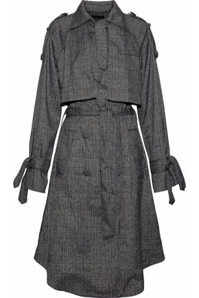 W118 by WALTER BAKER Neilson Prince of Wales layered woven trench coat