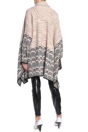 MISSONI Wool-blend jacquard cape