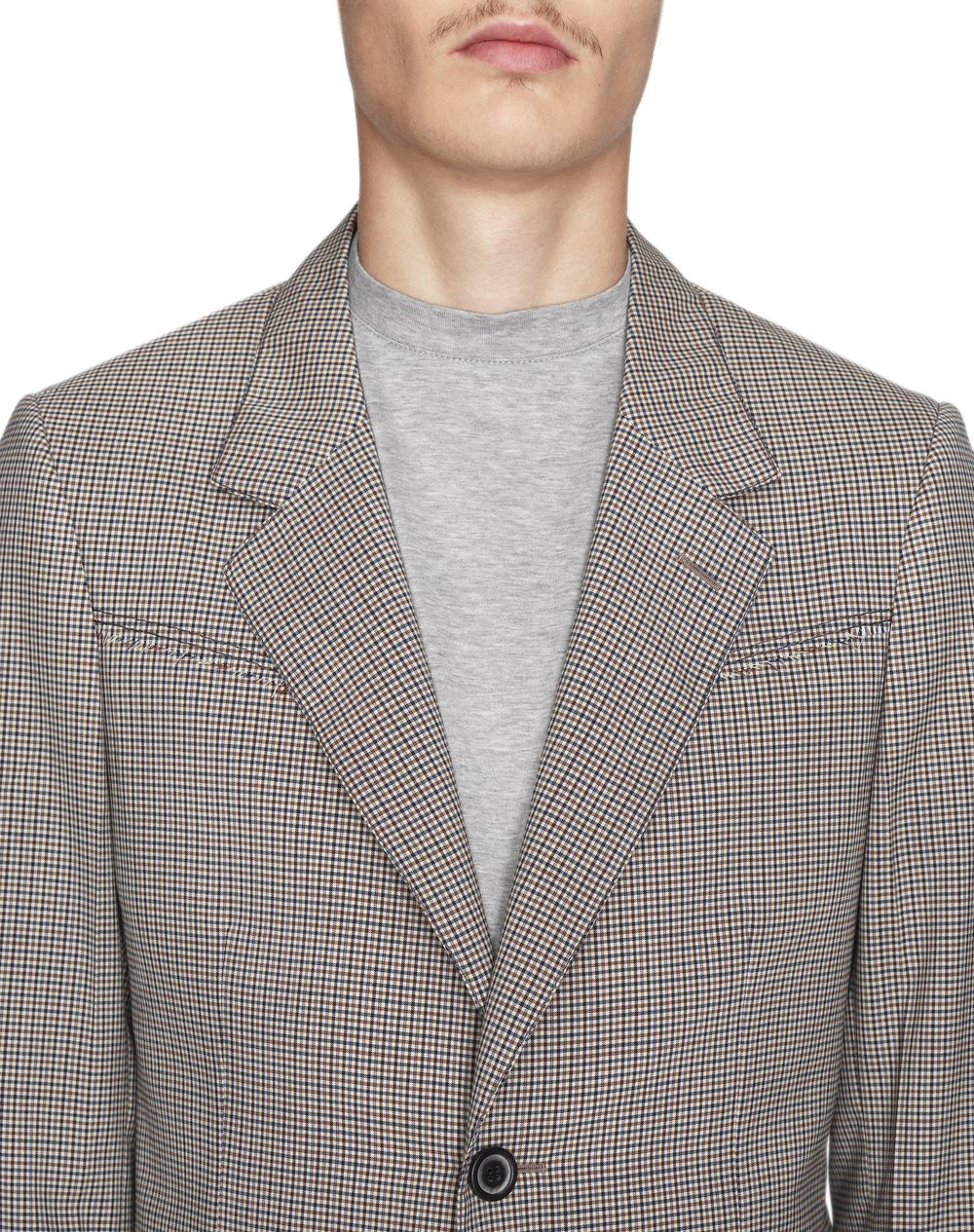 MULTICOLORED CHECKERED JACKET - Lanvin