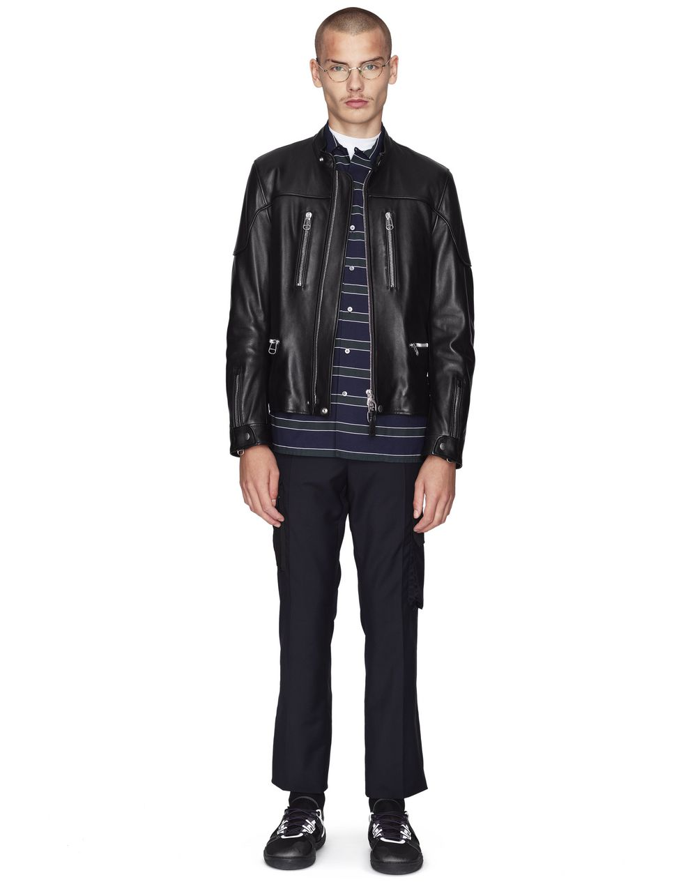 BLACK LAMBSKIN LEATHER BIKER JACKET  - Lanvin