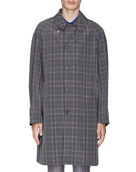 REVERSIBLE CHECKED COAT - Lanvin