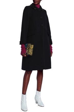 MARC JACOBS Velvet-trimmed wool-blend felt coat