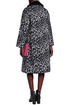 MARC JACOBS Leopard-print faux fur-trimmed shell down coat
