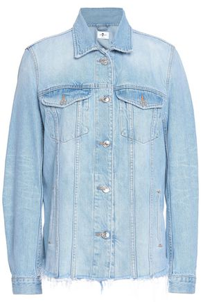 7 FOR ALL MANKIND Oversized frayed denim jacket