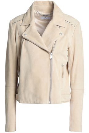 7 FOR ALL MANKIND Studded suede biker jacket