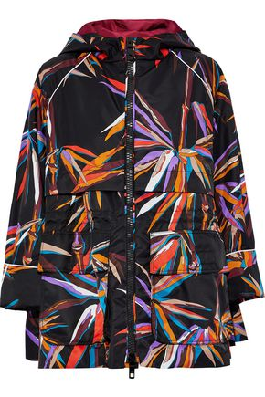 EMILIO PUCCI Printed shell hooded jacket