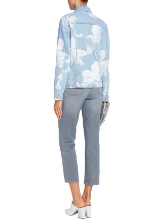 7 FOR ALL MANKIND Bleached denim jacket