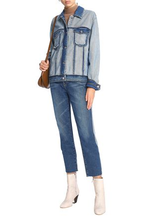 7 FOR ALL MANKIND Paneled two-tone denim jacket