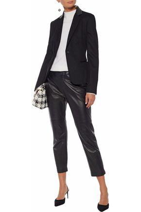 MAX MARA Porta leather-trimmed camel hair blazer