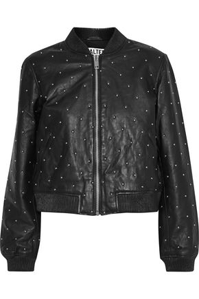W118 by WALTER BAKER Zena studded leather jacket