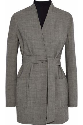 MAX MARA Geisha reversible houndstooth wool-blend jacket
