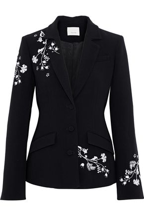CINQ À SEPT Gabrielle embroidered crepe blazer