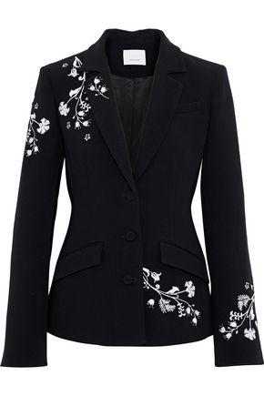 CINQ À SEPT Gabrielle embroidered crepe blazer