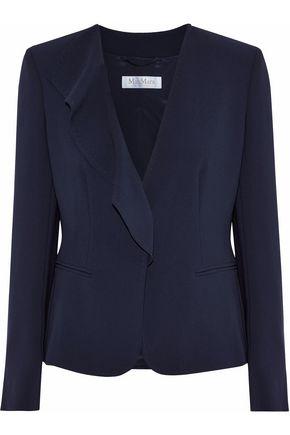 MAX MARA Durata ruffle-trimmed crepe blazer
