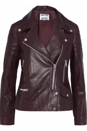 W118 by WALTER BAKER Alea leather biker jacket