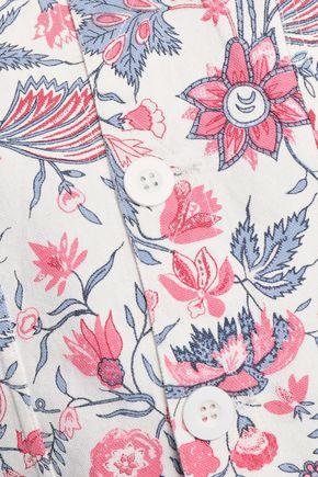 ANTIK BATIK Floral-print cotton-canvas jacket