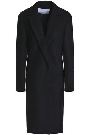 PACO RABANNE Button-detailed wool-blend felt coat