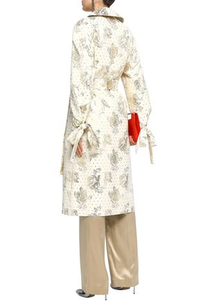 EMILIA WICKSTEAD Double-breasted metallic jacquard coat