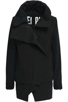 TEMPLA Convertible neoprene-paneled cotton-blend  jacket