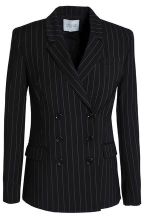 HOUSE OF DAGMAR Tuva double-breasted pinstriped woven blazer