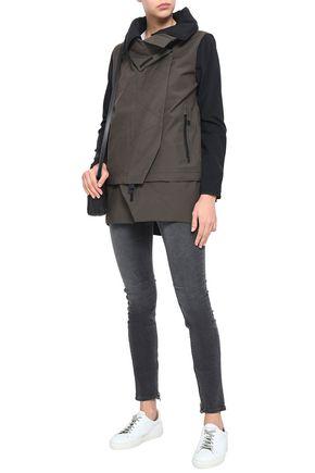 TEMPLA Convertible neoprene-paneled cotton-blend  jacket