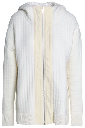 PACO RABANNE | Paco Rabanne Quilted Knitted Hooded Jacket | Goxip