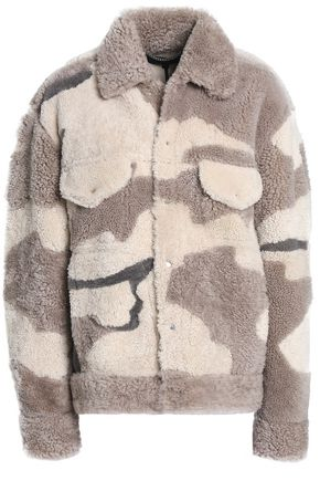 RAG & BONE Printed shearling coat