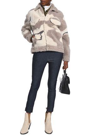RAG & BONE Printed shearling coat