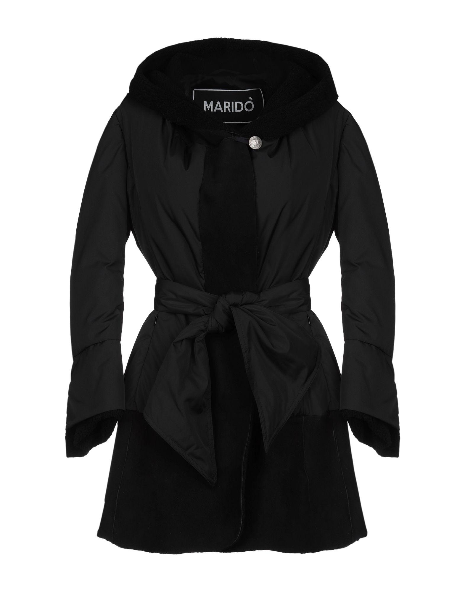 《期間限定 セール開催中》MARID? レディース ダウンジャケット ブラック 38 ナイロン 80% / 革 20%
