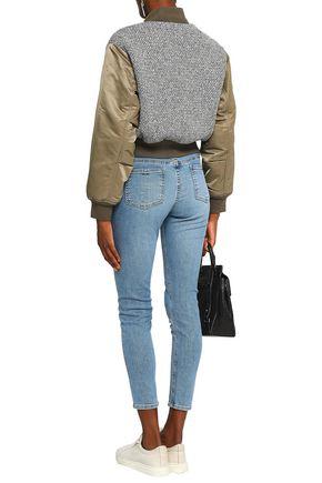 RAG & BONE Woven-paneled cotton-shell bomber jacket