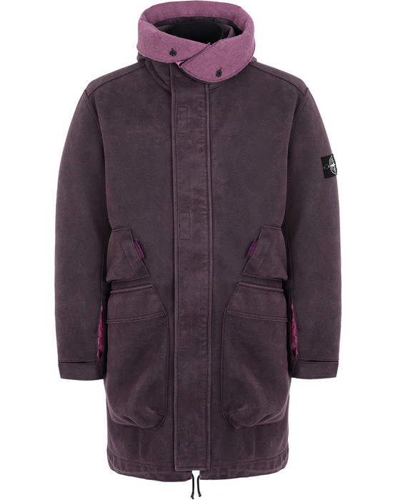 LONG JACKET 71229 MAN MADE SUEDE-TC  STONE ISLAND - 0
