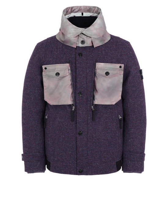 STONE ISLAND Mid-length jacket 4979A STONE ISLAND / HARRIS TWEED WITH POLYMORPHIC ICE