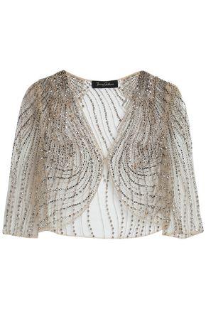 JENNY PACKHAM Embellished embroidered tulle jacket
