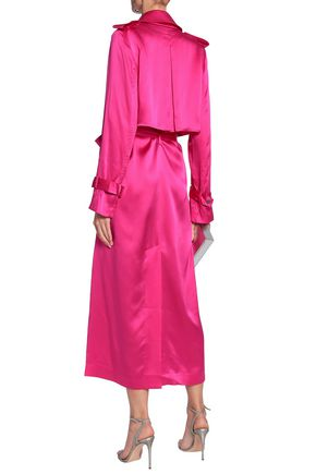 f04b5f548cd Belted silk-satin trench coat | MICHAEL LO SORDO | Sale up to 70 ...
