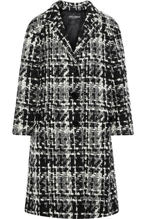 DOLCE & GABBANA Wool-blend bouclé-tweed coat