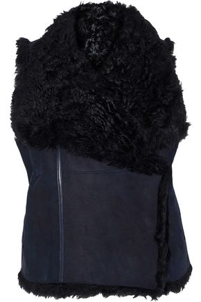 METEO by YVES SALOMON Reversible shearling vest