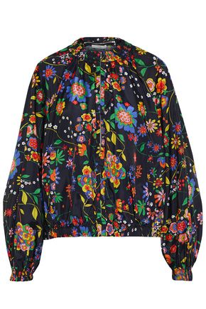 TIBI Floral-print shell hooded jacket