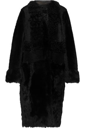 YVES SALOMON Reversible leather-trimmed shearling coat