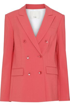 TIBI Steward double-breasted woven blazer