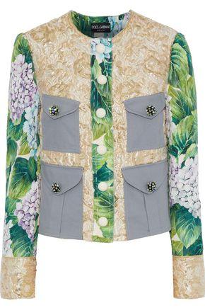 DOLCE & GABBANA Embellished cloqué, brocade and twill jacket