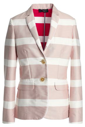 PIAZZA SEMPIONE Striped cotton-blend blazer