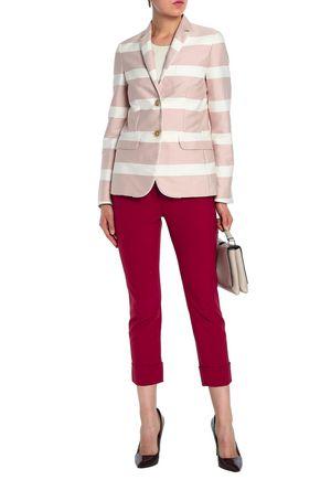 PIAZZA SEMPIONE Striped cotton-blend blazer