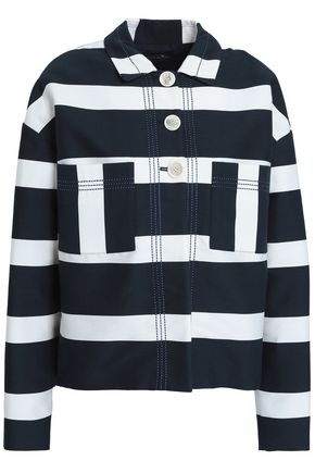 PIAZZA SEMPIONE Striped cotton-blend twill jacket
