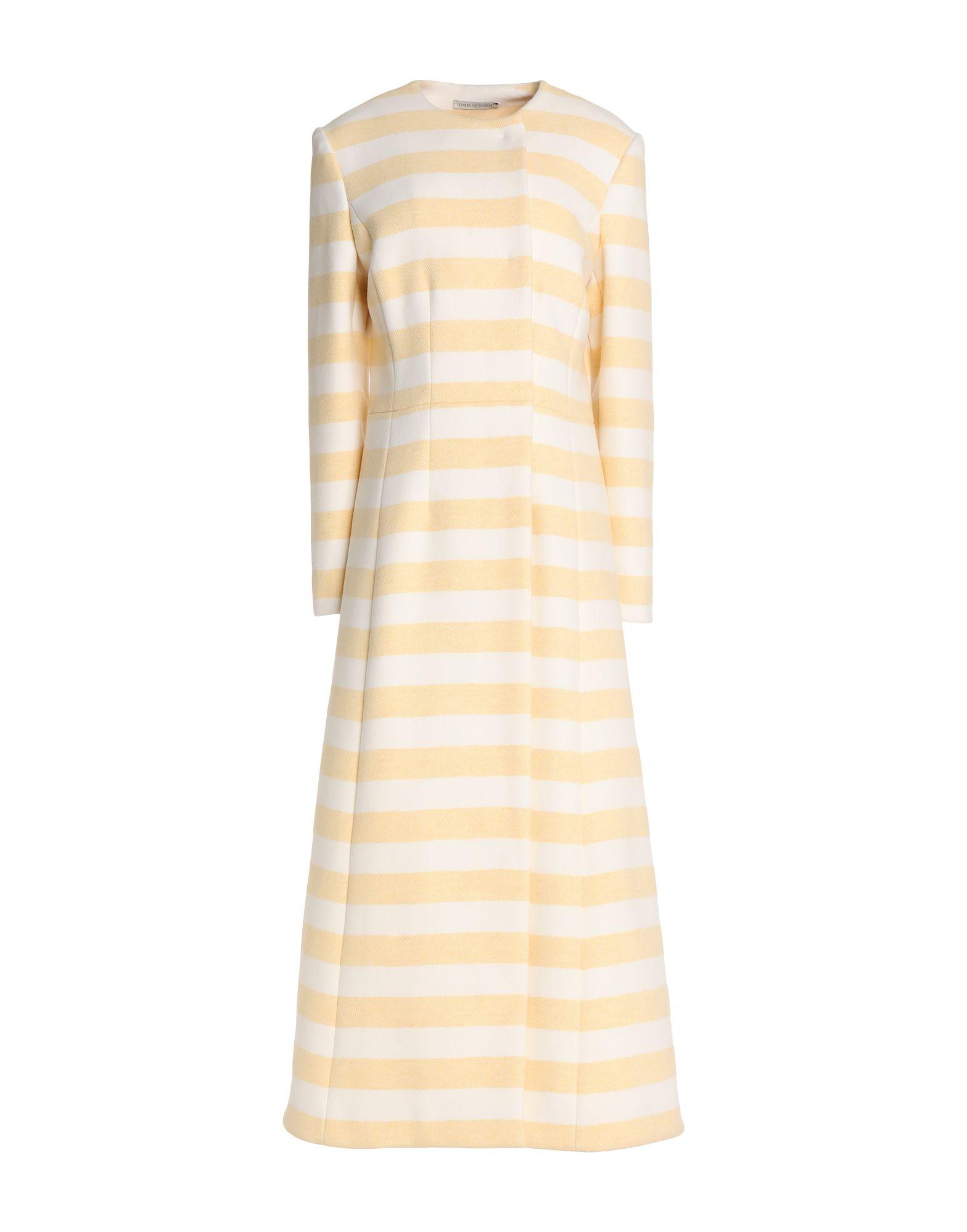 EMILIA WICKSTEAD Пальто 2016 осенью дамы сукно slim шерстяные пальто в длинные пальто
