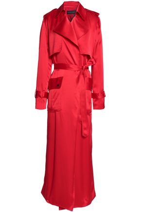 MICHAEL LO SORDO Belted silk-satin trench coat