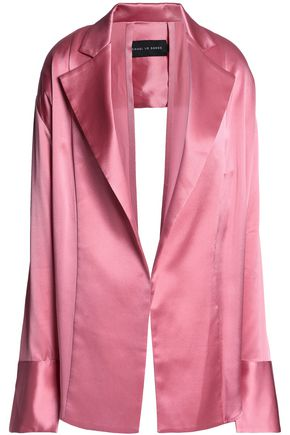 MICHAEL LO SORDO Open-back silk-satin jacket