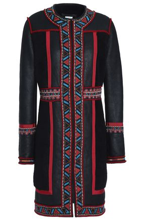 TALITHA Embroidered shearling coat